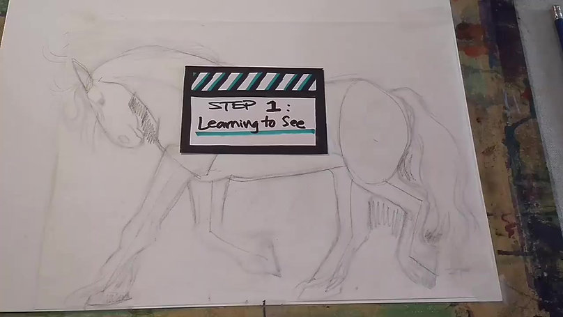 Drawing a Horse_Step 1