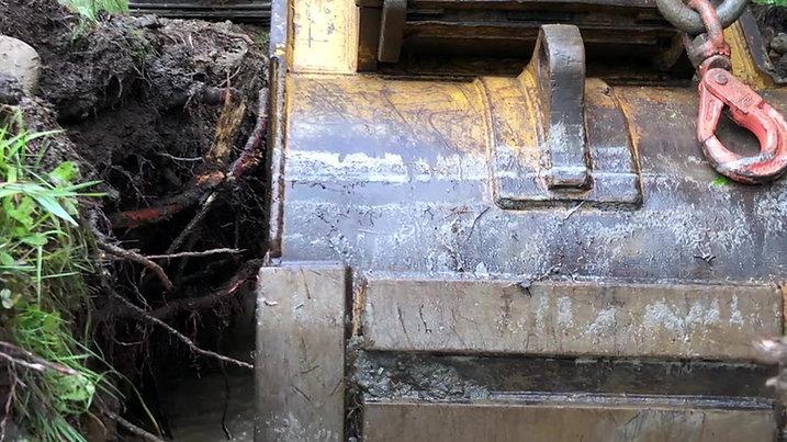 Installation d'une borne sèche à partir d'un plan d'eau