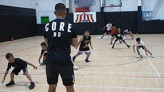 Kids working on defense.