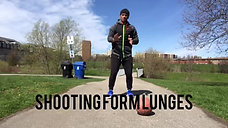 Shooting form lunges