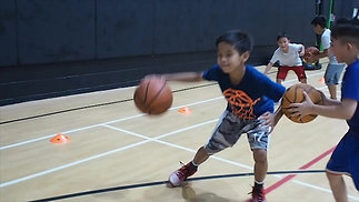 Working on Dribbling, footwork, and ball protection.