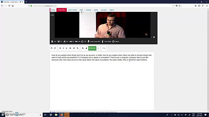 Transcribe instructional video