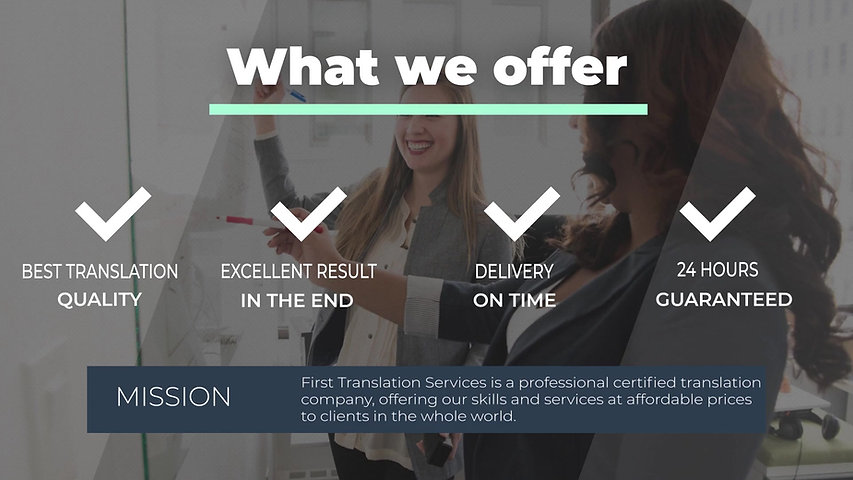 First Translation Company Presentation