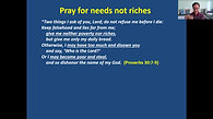 Pray for our daily needs, May 3