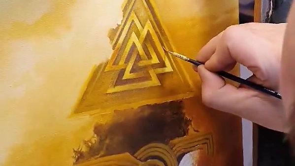 Valhalla Gate - painting in progress 2