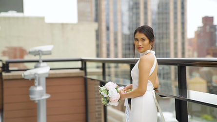 Matt and Ayessa's Rooftop Elopement