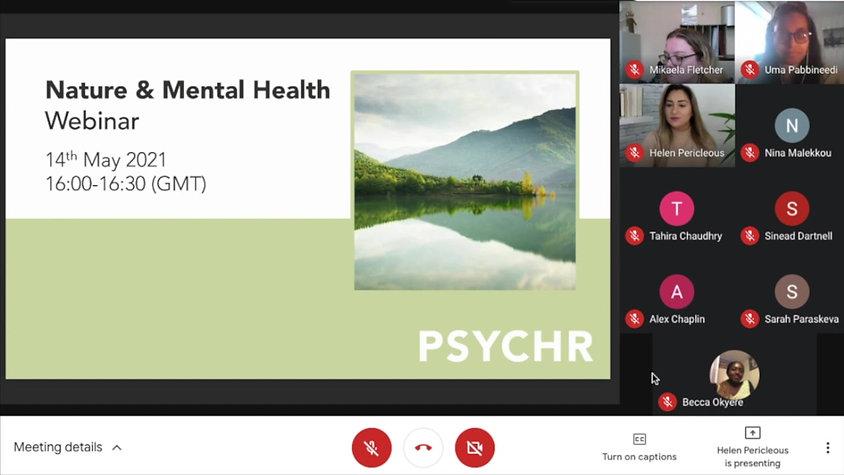 Nature & Mental Health Webinar