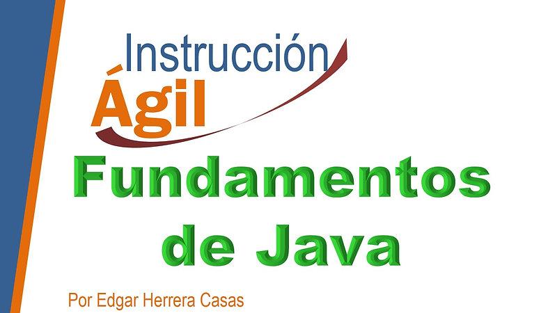 Fundamentos de Java Sesión 1