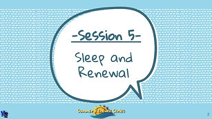 Summer Renewal Series Session #5