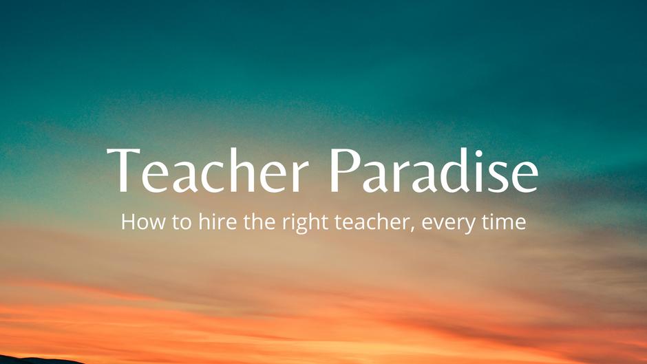 Teacher Paradise Sales Video