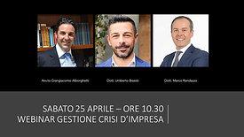 "Intervento Webinar ""Gestione Crisi d'Impresa"""