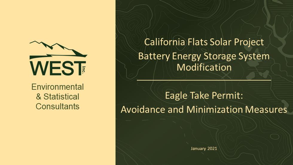California Flats BESS Eagle Take Permit