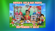 Bryce's 1st B-Day Party