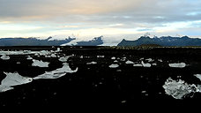 Jokulsarlon Black Sand Beach Glacier Ice, Iceland 1080HD