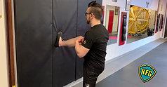 Exercise 5: Wall Lean (Kicking Leg) - Front Kick