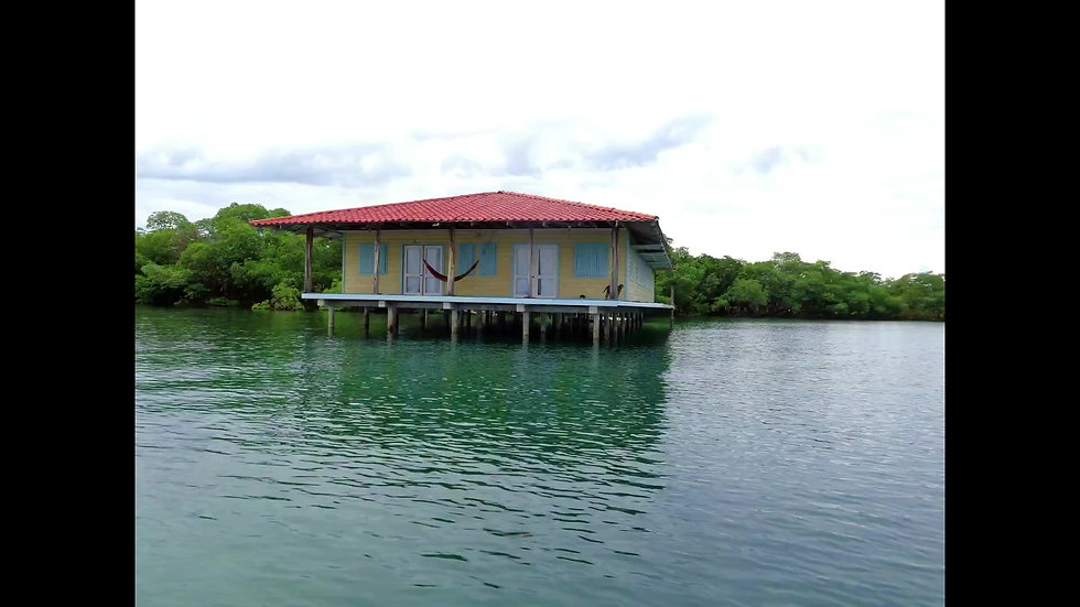 Navaro Island in Bocas del Toro, Caribbean Sea, Panama