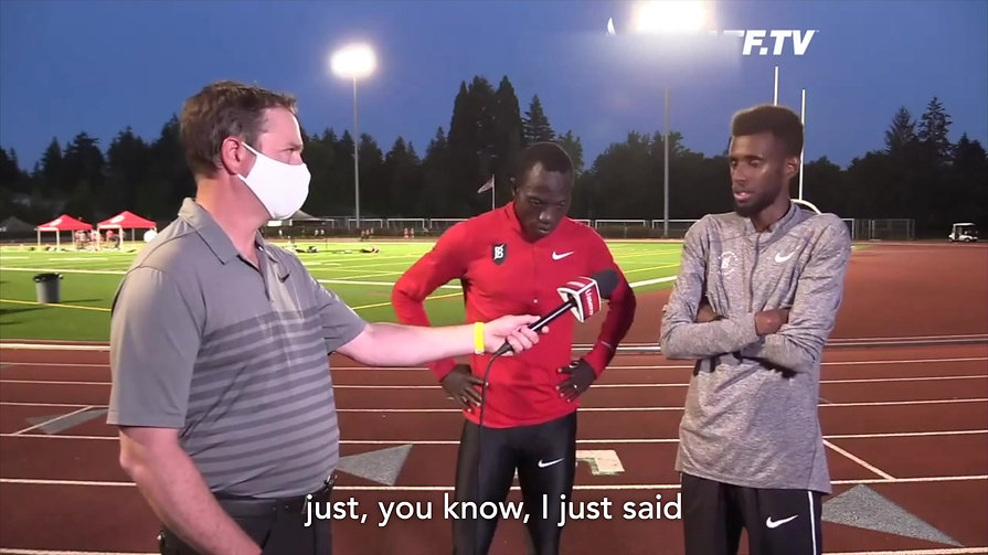 Moh Ahmed's Mental Preparation Before Breaking Canadian 5k Record