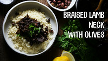 Braised lamb neck with olives