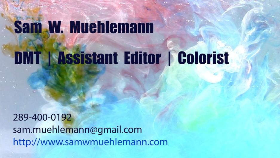 DMT - Assistant Editor - Colorist