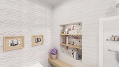 Дизайн ванной комнаты с коллекцией Шебби Шик от Lasselsberger.