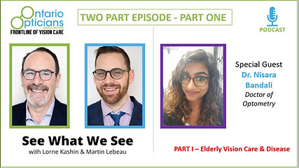Episode 3 - Dr Bandali - Part 1 - Elderly Vision