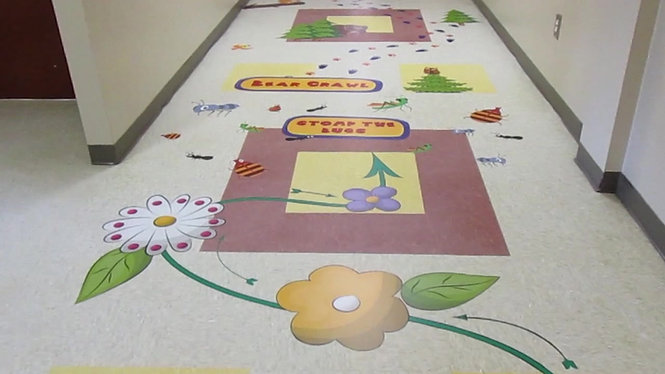 Lakeview Center Floor Graphics
