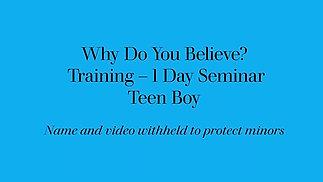 Teen Boy - 1 Day Seminar