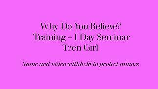 Teen Girl - 1 Day Seminar