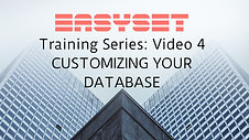 Video 4: Customizing your Database