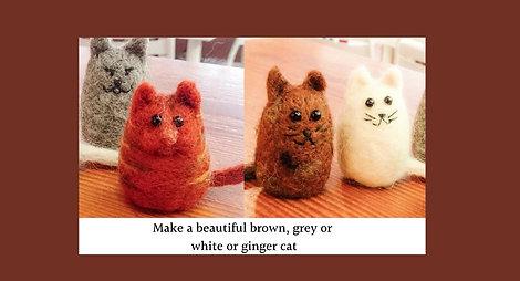 Cat needle felting kit