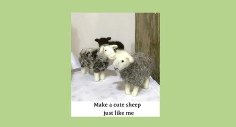 Sheep needle felting kit