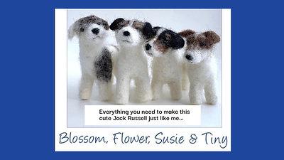 Jack Russell needle felting kit