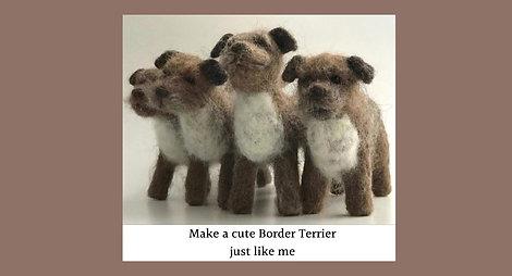Border Terrier  needle felting kit