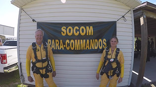 Laurie goes skydiving with the SOCOM Para-Commandos