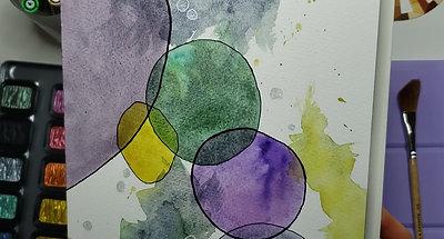 Metallic Watercolour