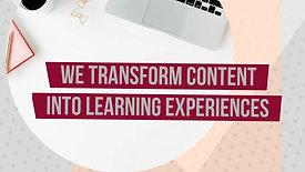 We transform content