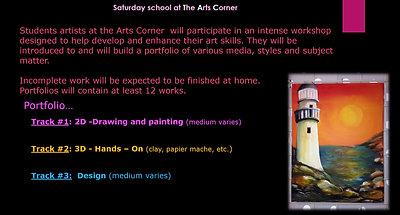 The Arts Corner fall Sat School 2017 video