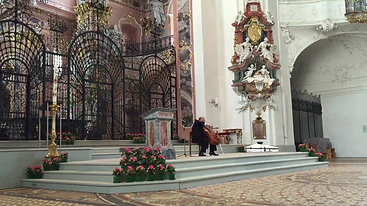 Beatocello's last concert in the monastery of Einsiedeln