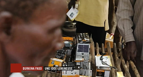 Lampe solaire au Burkina Faso