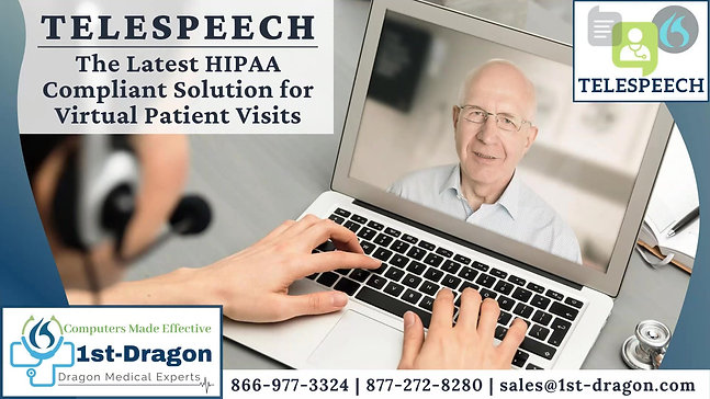 TeleSpeech - The Latest HIPAA Compliant Solution for Virtual Patient Visits