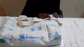 making utility bag from waste milk packets