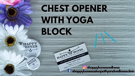Chest Opener With Yoga Block