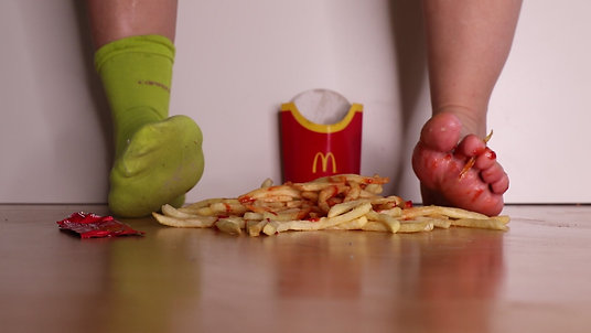 Walking over Fries & Ketchup