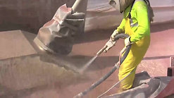 Graco EcoQuip® Vapor Abrasive™ Blasting used on Hastings Bridge