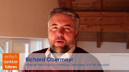 Richard Obermayr, Inhaber der Perchtold Trockenbau Unternehmensgruppe