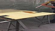 Plusieurs couches de cire sur bois - SPOCC