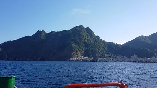 Ulleungdo from the boat