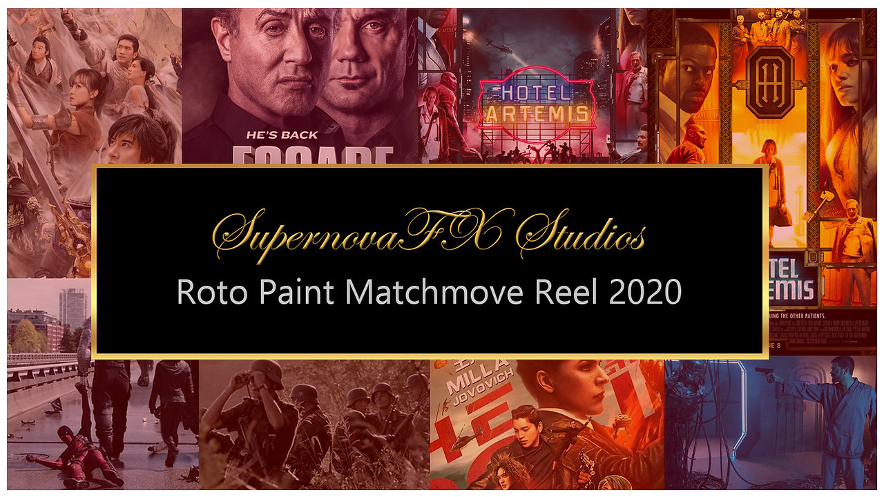 SupernovaFX Roto Paint Matchmove Showreel 2020