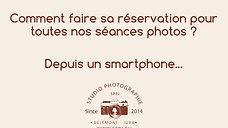 """Réservation d'une séance Photo avec un """"Smartphone"""""""