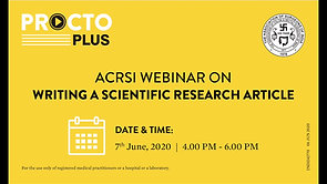 ACRSI & ISUCRS Webinar on Writing A Scientific Research Article